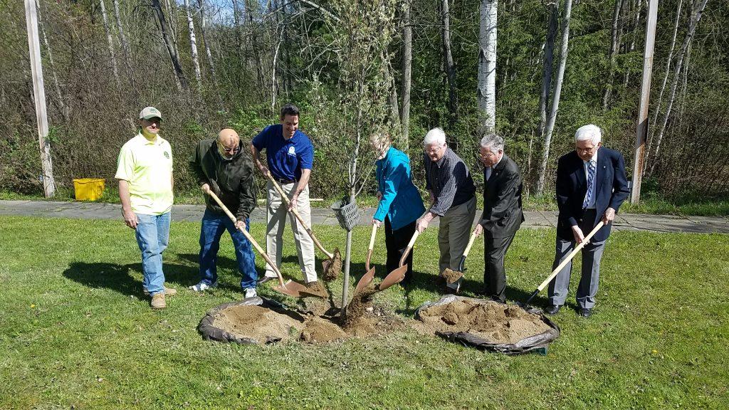 City of Jamestown NY RTPI, City Honor Ornithologist, Conservationist Robert Sundell with Tree Planting