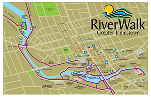 Map Of Greater New York City Area.Greater Jamestown Riverwalk City Of Jamestown New York