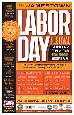 City of Jamestown NY 2018 Labor Day Festival